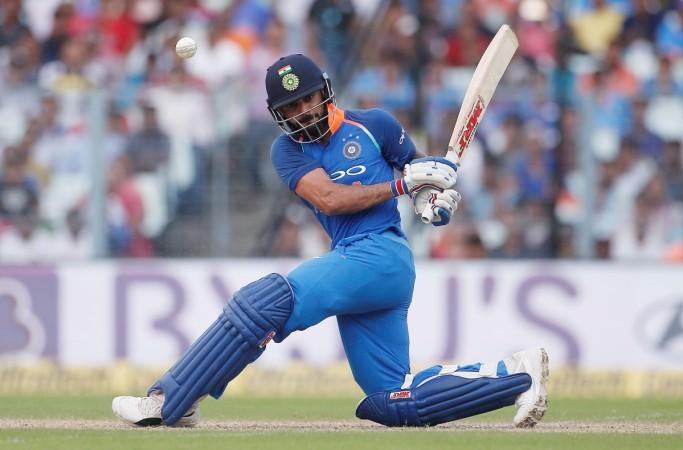 Virat Kohli plays a shot during the 2nd ODI against Australia in Kolkata   Reuters