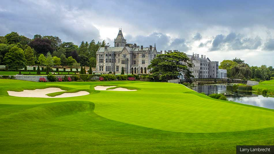 18th hole at Adare Manor