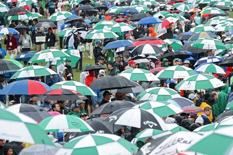 Rain at the Masters